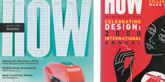 פרסום עבודה בHOW Design Magazine